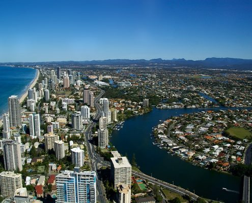 Gold Coast City Aerial View